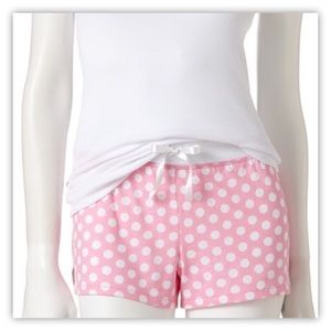 Candie's Pink And White Polka Dot Pajama Shorts